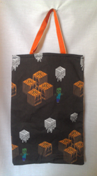 Bag - big - Halloween blocks, orange handles