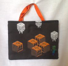 Bag - small - Halloween blocks
