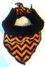 Bibble - Halloween Chevron Orange