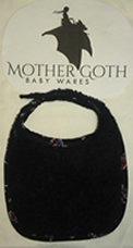 Mother Goth space black baby bib