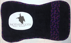 Mother Goth bats black baby burp cloth