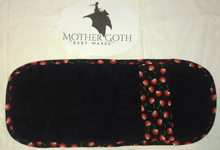 Mother Goth cherries black baby burp cloth