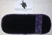 Mother Goth purple webs black baby burp cloth