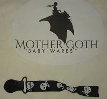 Mother Goth Nifty Noose Clip skulls