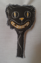 Spooky Balloon Rattle - cat